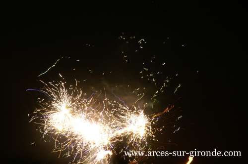 Feu d'artifice de Arces