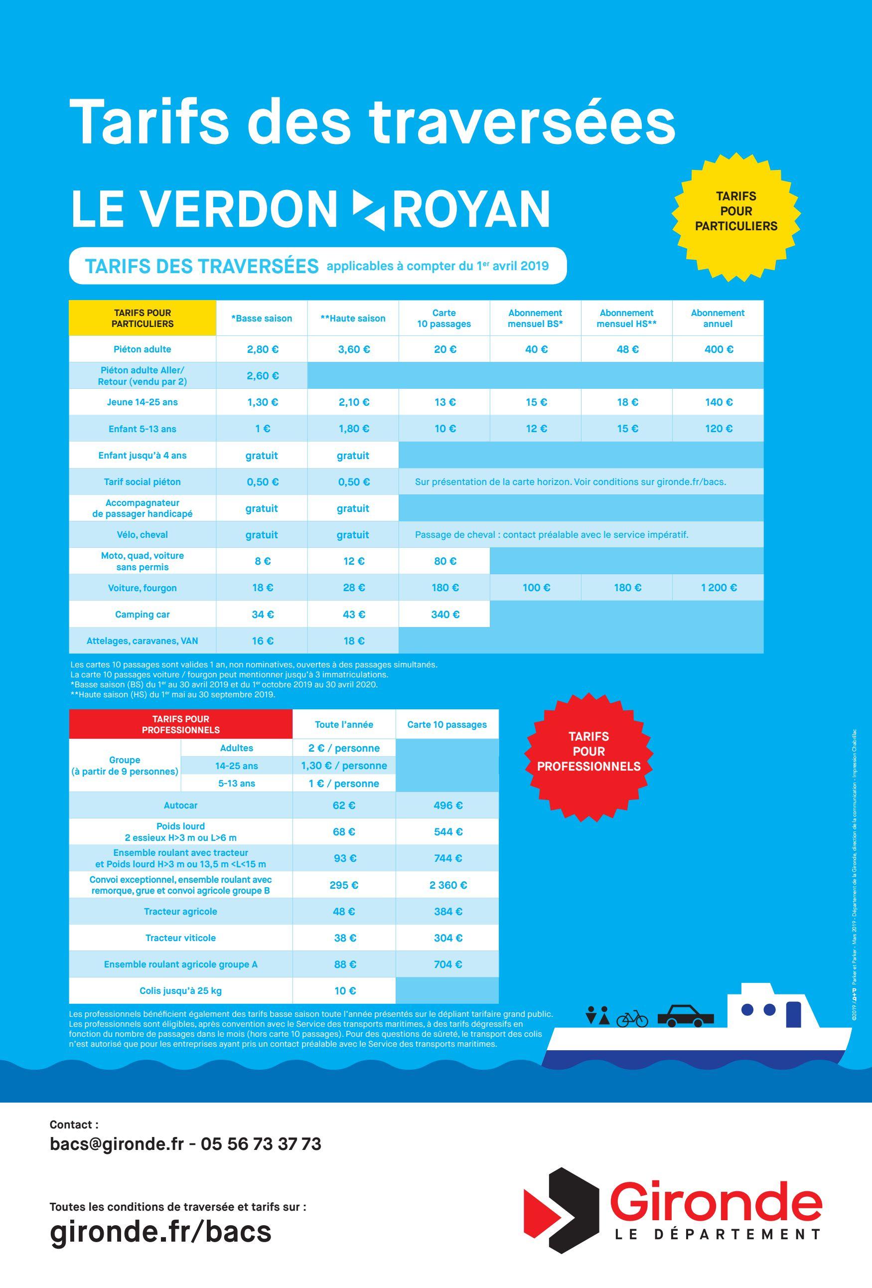 Horaires Et Tarifs Du Bac Ferry Royan Le Verdon 2020 2021